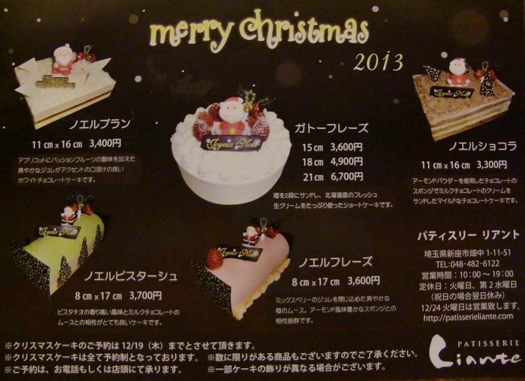 クリスマスパンフレット2013写メ